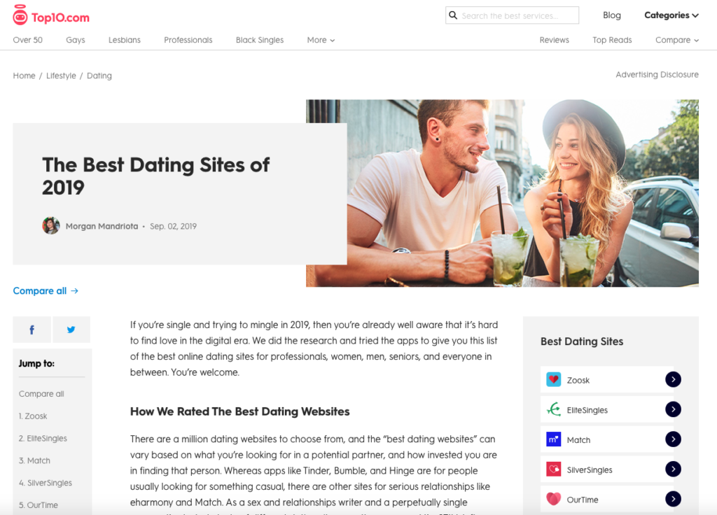 The Best Dating Sites of 2019 Top10